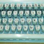 Tastatur einer mechanischen Schreibmaschine