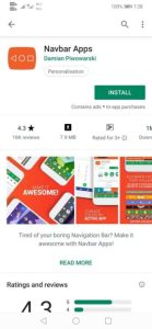 how to change color navigation bar in Android phone in hindi