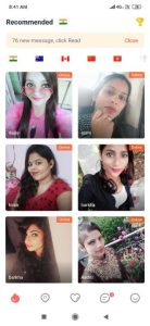 Online video chatting app in hindi, lamour