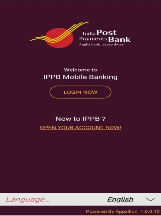 open an account in India Post Office through mobile