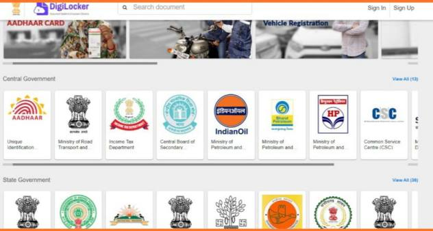 All types of documents uploading process in digilocker in Hindi