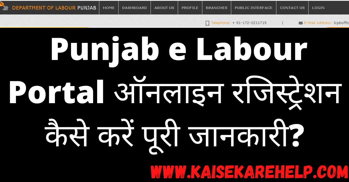 Punjab e Labour Portal Kya Hai In Hindi