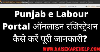 Punjab e Labour Portal Kya Hai In Hindi