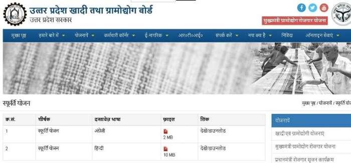 SFURIT Yojana Online Form 2020 In Hindi