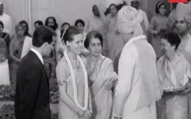 Rare Pic of Sonia Gandhi Marriage