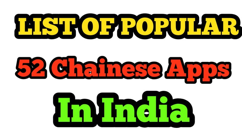 List Of Popular 52 Chinese Apps In India