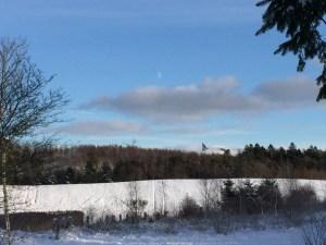 Måne og sne