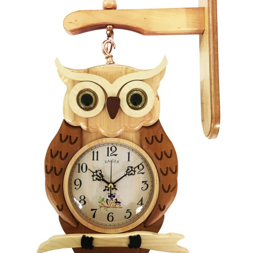 AT035 - A18KCAT035 Two Sided Owl Clock