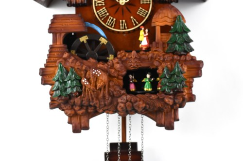 DSC 0301 - A18KCKW9104 Musical Cuckoo Clock with waterwheel and dancers