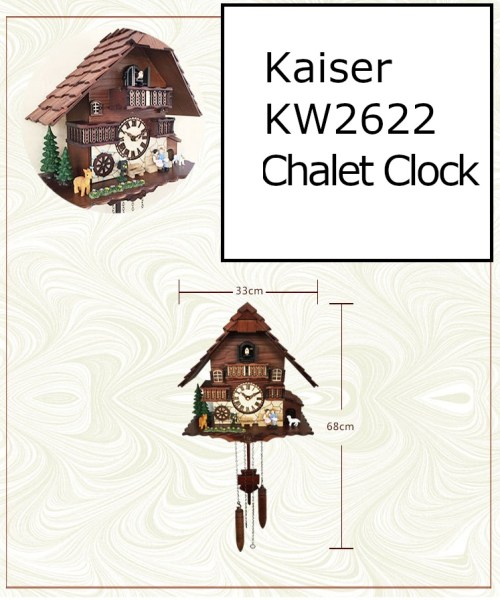 kw2622 measurements - A18KCKW2622MD Kaiser Black Forest Chalet Quartz Cuckoo solid wood