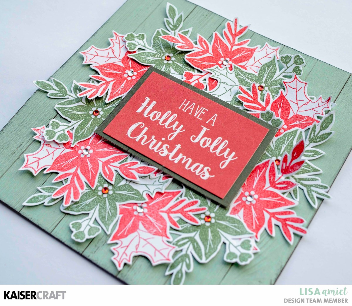 Peppermint Kisses Christmas Cards & Envelopes