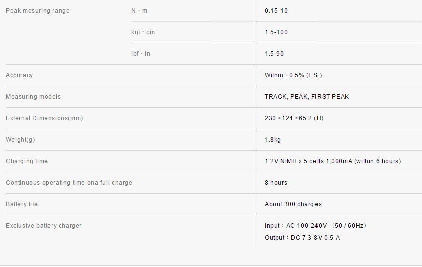 HIOS Digital Torque Meter HP-100 0.15-10.00Nm