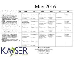 May Group Fit Schedule