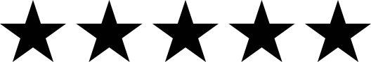 5 black stars