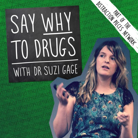 Podcast image. Green background with Suzi Gage on front. Text reads