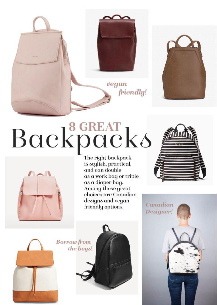 8 stylish and functional backpacks | Kait Bos