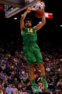 Arsalan Kazemi dunks the ball during the Pac-12 Tournament Championship at the MGM Grand Garden Arena in Las Vegas on Saturday, March 16, 2013. (Kai Casey/CU Independent)