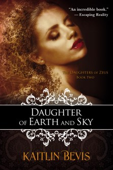 second edition cover of the young adult, greek mythology retelling, Daughter of Earth and Sky book two of the Daughters of Zeus series. Features the greek goddess of Spring, Persephone