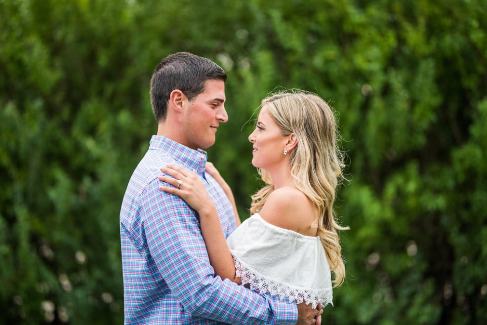 two people greenery romantic engagement
