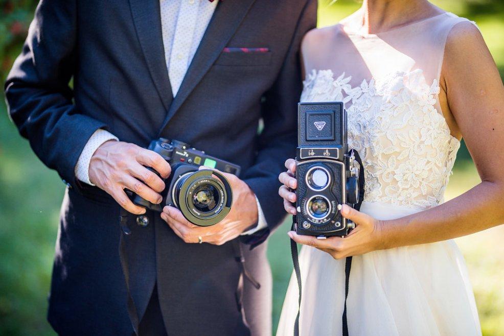 vintage cameras Kaitlyn Ferris photography garden wedding