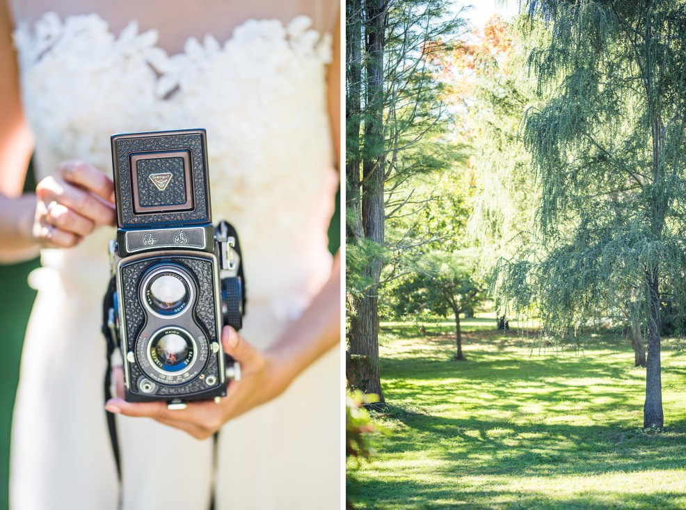 vintage cameras bride Kaitlyn Ferris photography garden wedding