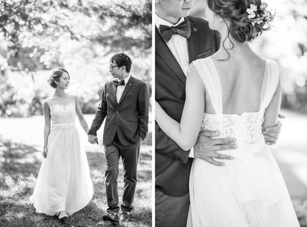 black and white couple details garden wedding