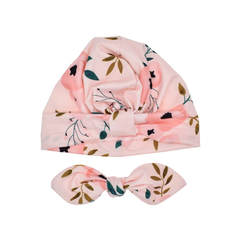 Cute Print baby Hats Thermal Caps For Infant Newborn Kid