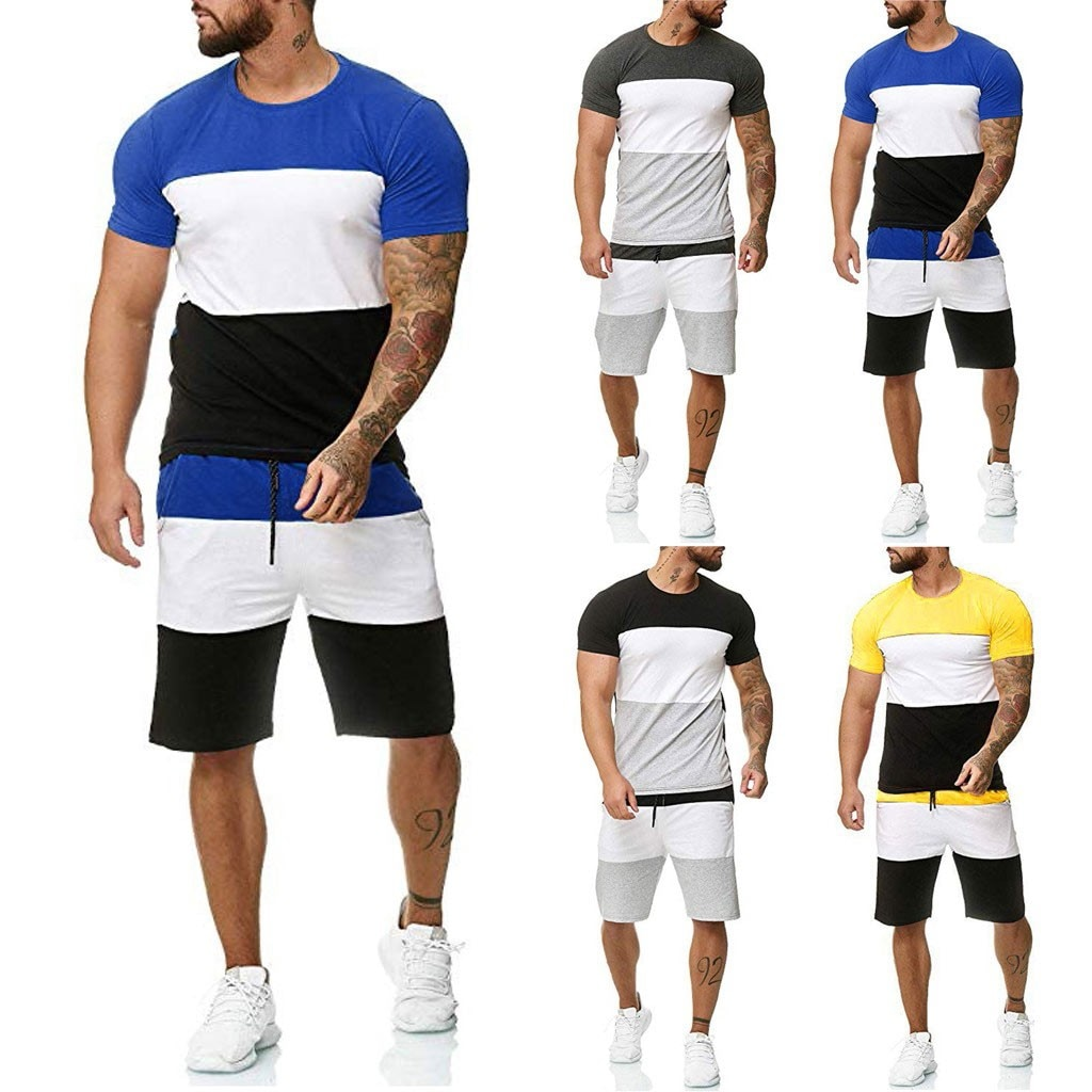 Fashion Men's Sets Summer 2pc Tracksuit Shorts Sets