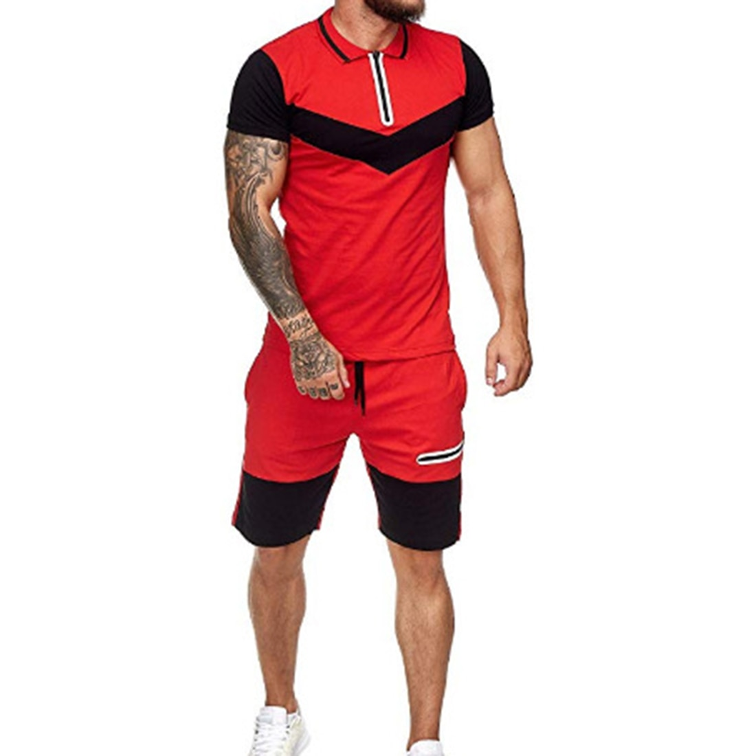 Summer Casual Summer Clothing 2 Piece Set Colorblock Track Suits