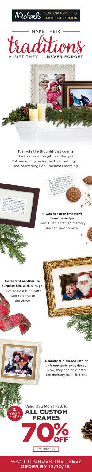 christmas custom framing