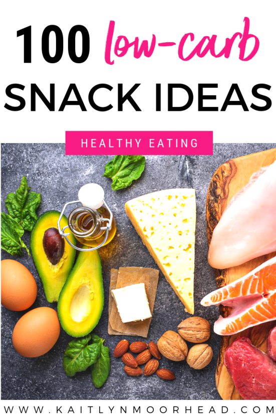 Looking for a list of easy to prep, low carb snacks for on the go? This post includes great low carb food ideas for weight loss, including both store bought + simple recipes you can make quickly! If you're looking for a list that is keto diet friendly, this healthy food list is for you. It not only includes fruits + vegetables, but sweets, fat bombs, bread [yes!], + meats that will make your mouth water. Who doesn't love saving their carbs for dinner? #lowcarbsnacks #lowcarb #ketosnacks #healthy