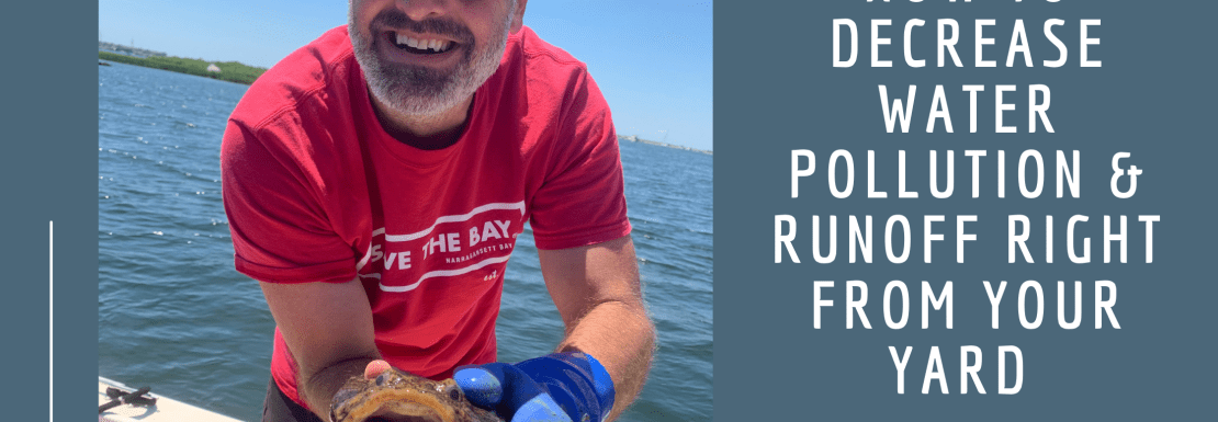 HOW TO DECREASE WATER POLLUTION & RUNOFF RIGHT FROM YOUR YARD w/ DAVE PRESCOTT- SAVE THE BAY
