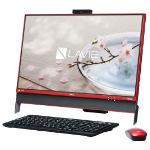 NEC LAVIE Desk All-in-one DA370/DAR PC-DA370DAR クランベリーレッドの画像
