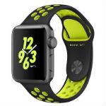 Apple Watch Nike+  38mm スペースグレイアルミニウムケースとブラック ボルトNikeスポーツバ…の画像