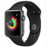 Apple Watch Series 3(GPS) 42mm スペースグレイアルミニウムケースとブラックスポーツバン…の画像
