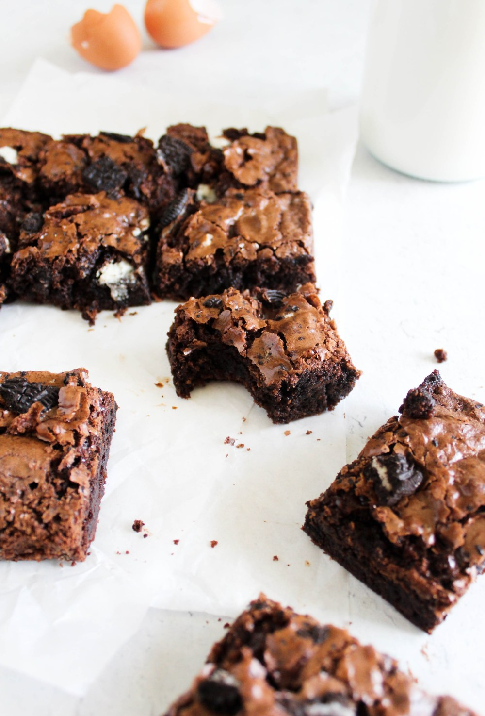 picture of brownie piece with bite.
