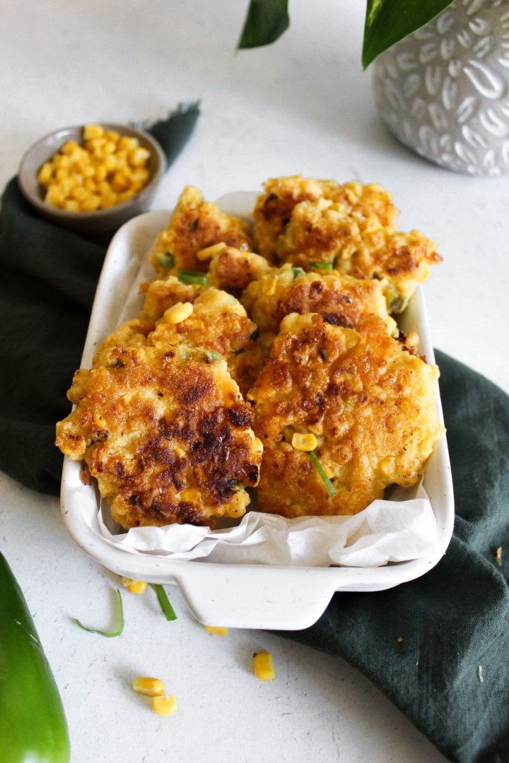 photo of jalapeno corn fritters