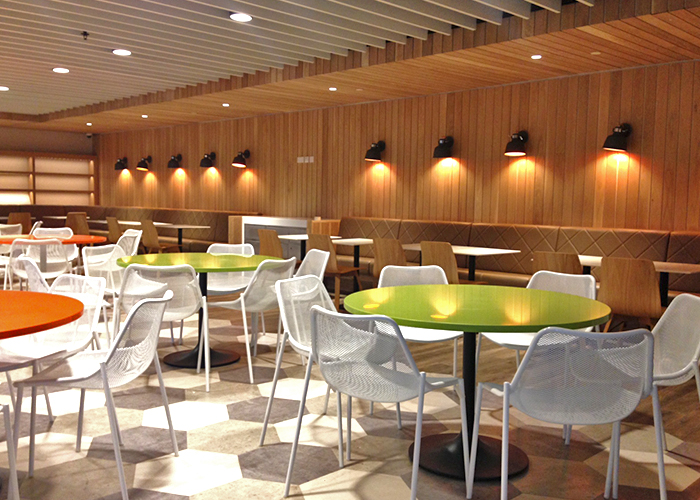 Mall Food Court Cleaning Food Counters Dining Areas and