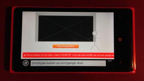 Axure prototype Windows Phone 8