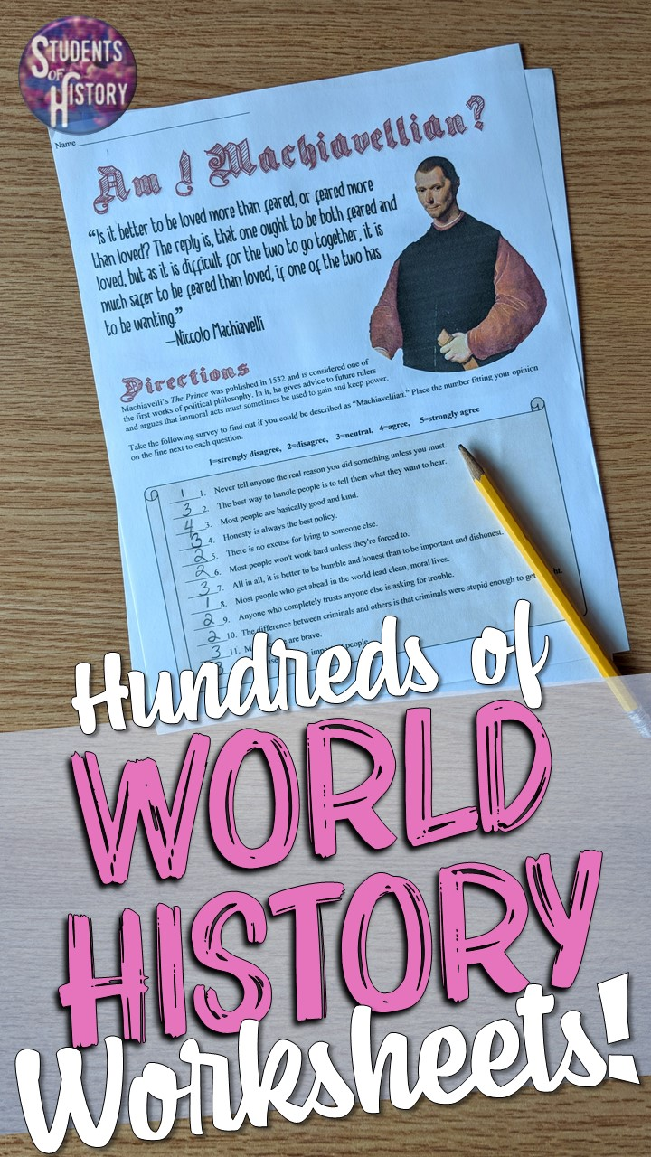 hight resolution of World History Worksheets