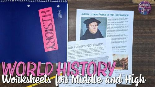 small resolution of World History Worksheets