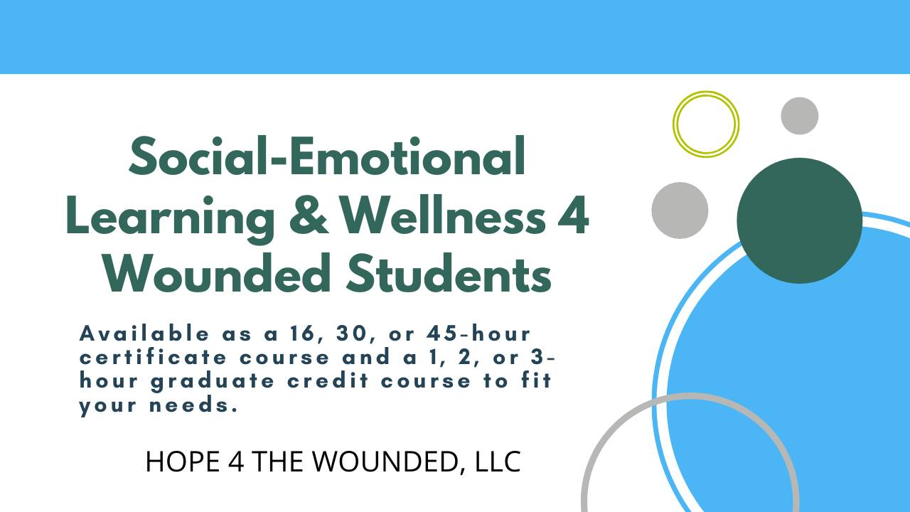 Social Emotional Learning & Wellness Training. Certificate & Grad Cred