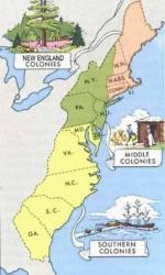 Comparing the New England Middle and Southern Colonies