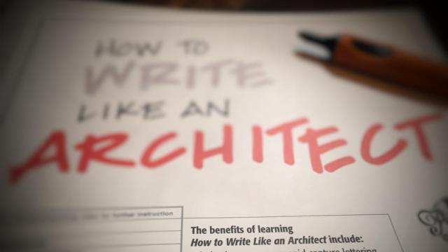Learn How to Write Like An Architect