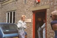 Jez, outside Gimpy Dak Records, 1984