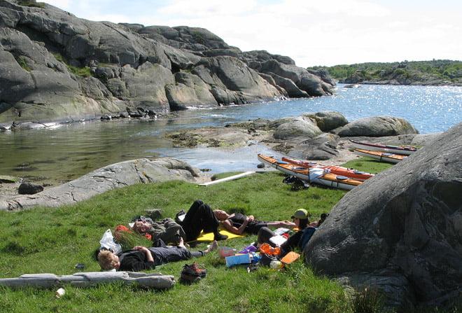 Slappande på Rivö