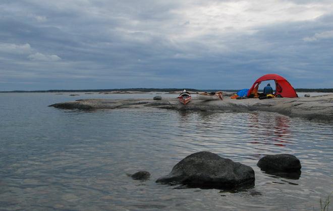 Fin lägerplats på Villinges sydspets