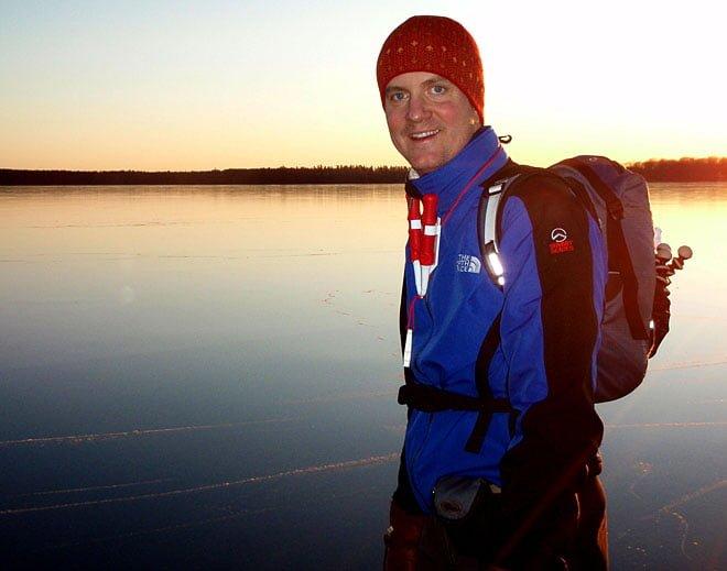 Erik Sjöstedt på isen