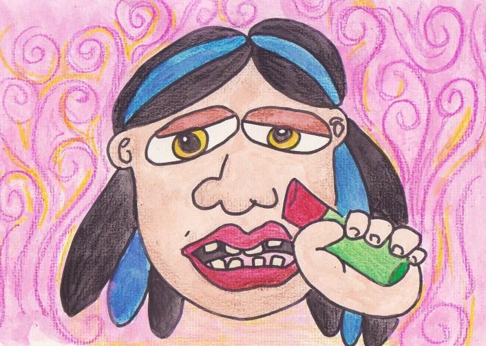 Dominga labios rojos