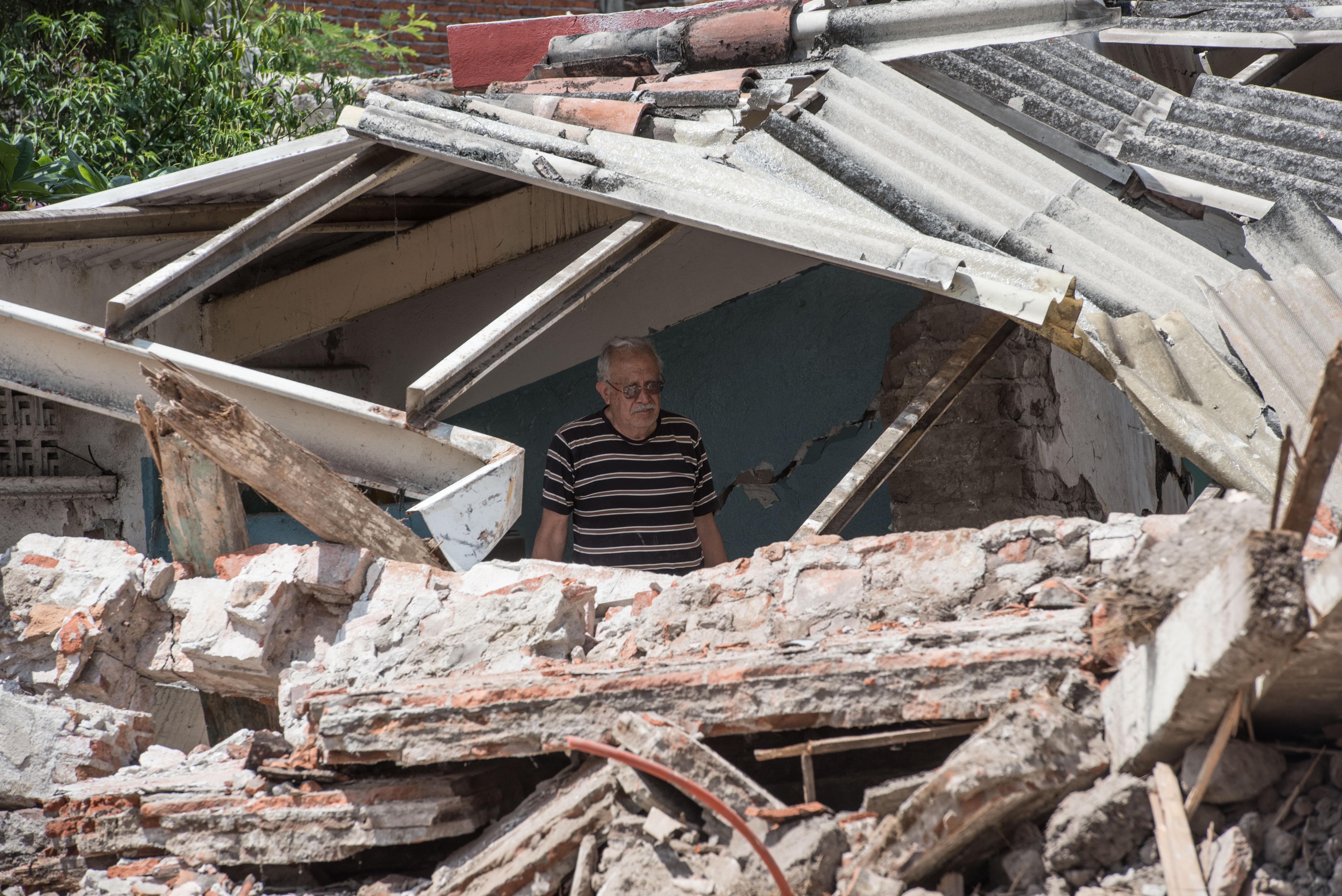 Aspectos de los derrumbes del sismo en Jojutla, Morelos. 27 de septiembre de 2017.